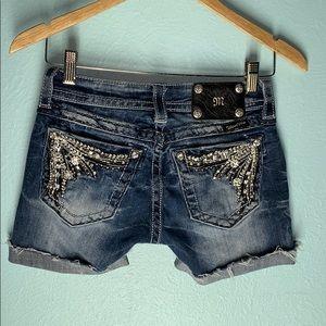 Miss Me Size 25 Cut Off  Raw Hem Jean Shorts